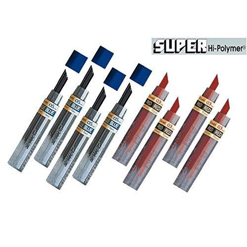 Pentel 96 Minas (8 Tubos) 0.5mm  Rojo / Azul