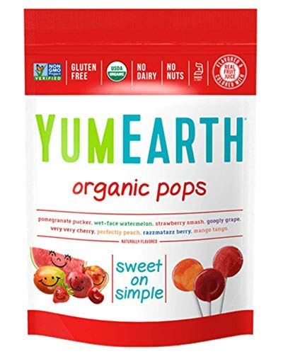 (Yummyearth Organic Lollipops, Assorted Flavors, 3 oz (14 Pops))