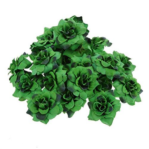 OULII Artificial Stapelia Flower Heads Wedding Party Decoration 50pcs (Dark Green)