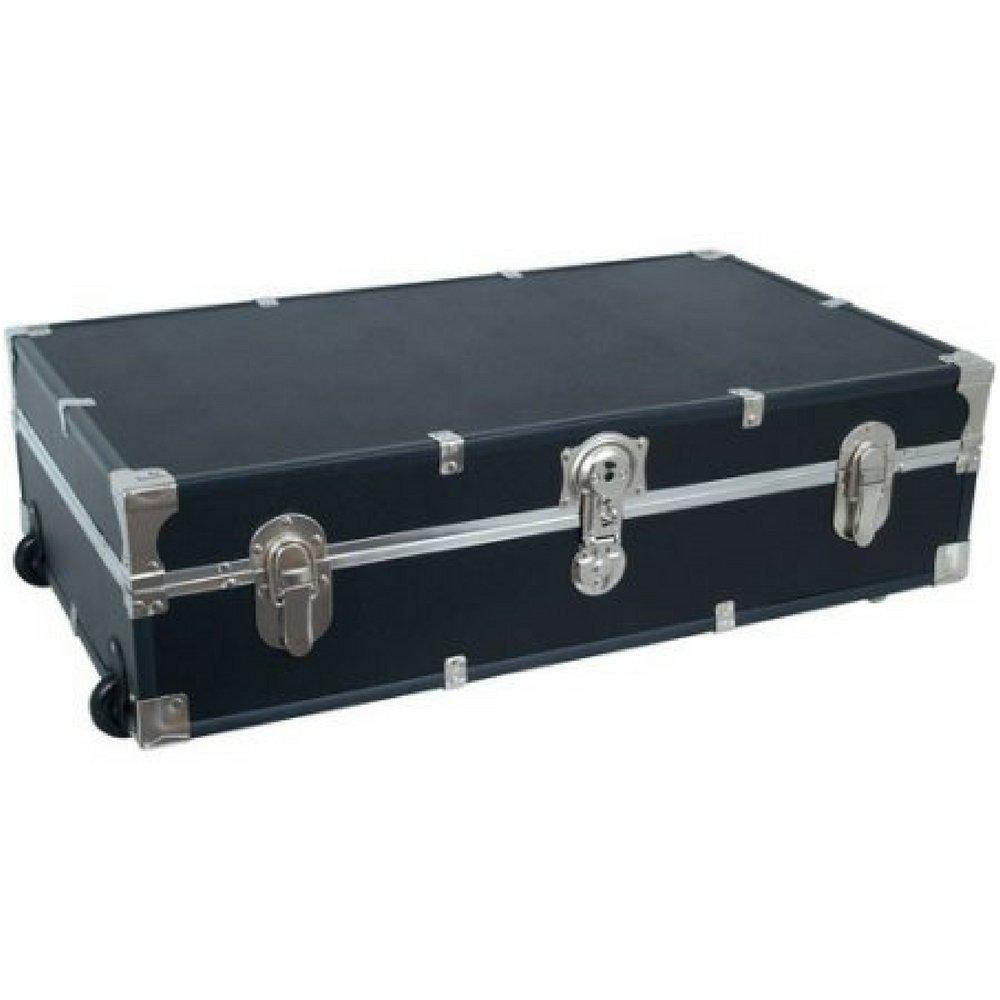 Mercury Luggage Seward Under the Bed Wheeled Storage Footlocker, 31'' (Black)