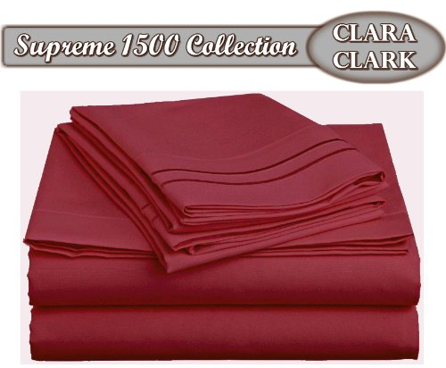 Clara Clark ® Supreme 1500 Collection 4pc Bed Sheet Set - Q