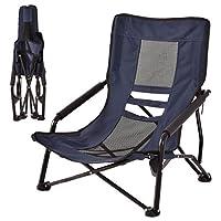 "Custpromo (Blue) Folding Outdoor High-Back Portable Lightweight Durable Hiking Fishing Travel Backpack Beach Chairs, 23.2"" x 22.0"" x 27.1"" (L x W x H)"