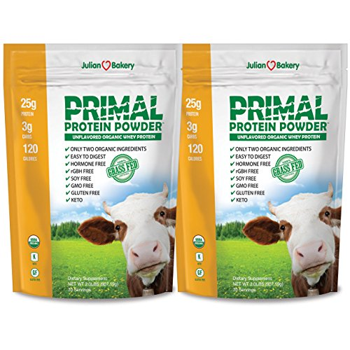 Primal Protein Powder USDA Organic 4.0lbs Certified Grass Fed Rumiano s Whey 60 Servings Unflavored