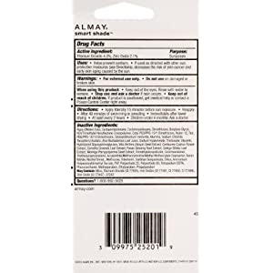 Almay Smart Shade Makeup with SPF 15, Light 100, 1-Ounce Tube