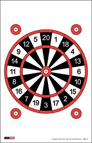 EZ2C Targets Style 15 Dart Board (25 Pack) (Archery Targets Dartboard)