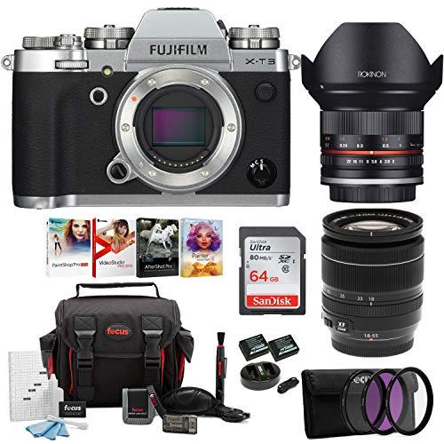 Fujifilm X-T3 4K Mirrorless Digital Camera with 18-55mm Lens