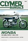 Honda 125-200cc, Twins, 1965-1978, Clymer Publications Staff and Penton Staff, 0892877227