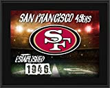 """San Francisco 49ers 10.5"""" x 13"""" Sublimated Horizontal Team Logo Plaque - NFL Team Plaques and Collages"""