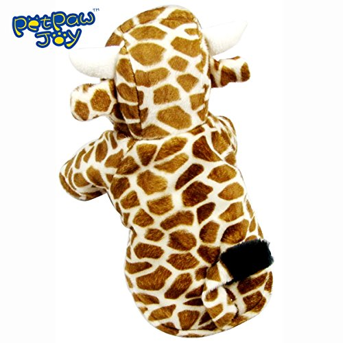 PetPawJoy Dog Cat Giraffe  Costume,Yellow,