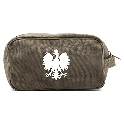 polska-polish-poland-eagle-canvas-shower-kit-travel-toiletry-bag-case-in-olive