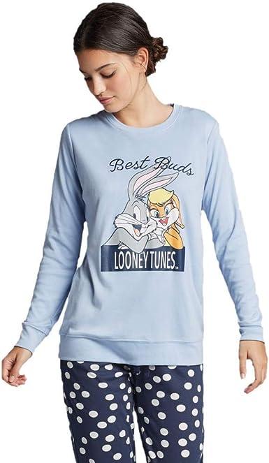 GISELA Pijama Largo Looney Tunes de Mujer (XXL): Amazon.es: Ropa