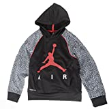 Jordan Big Boys Elephant Print Hoodie (M(10-12YRS), Black)