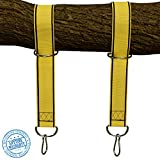 StrapMate Tree & Patio Swing Hanging Kit - Two 4 Foot Straps Holds 2800 lbs (SGS Certified), Free Extra Strong 4 Snap Carabiners - Fastest & Easiest Way to Hang Any Swing & Hammock - No Tools Needed