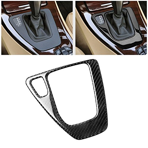 E90 Carbon Fiber - Carbon Fiber Car Control Gear Box Shift Panel Frame Cover Sticker for BMW E90 3 Series 2005-2012 318i 320i 325i 330i 335i