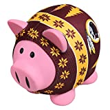 Forever Collectibles NFL Washington Redskins Sweater Pig Bank, Red