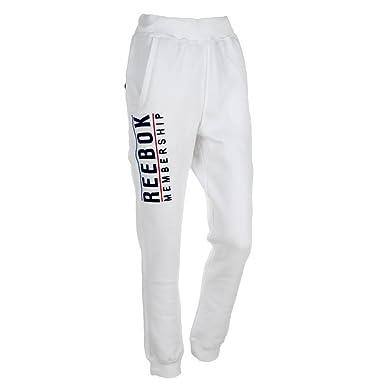 Reebok New Mens Boys Running Pants Comfy Warm White Jogging Bottoms  Amazon.co.uk   Clothing d6f65fcf0