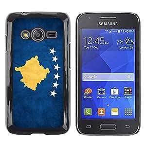 TopCaseStore / la caja del caucho duro de la cubierta de protección de la piel - Kosovo Grunge Flag - Samsung Galaxy Ace 4 G313 SM-G313F