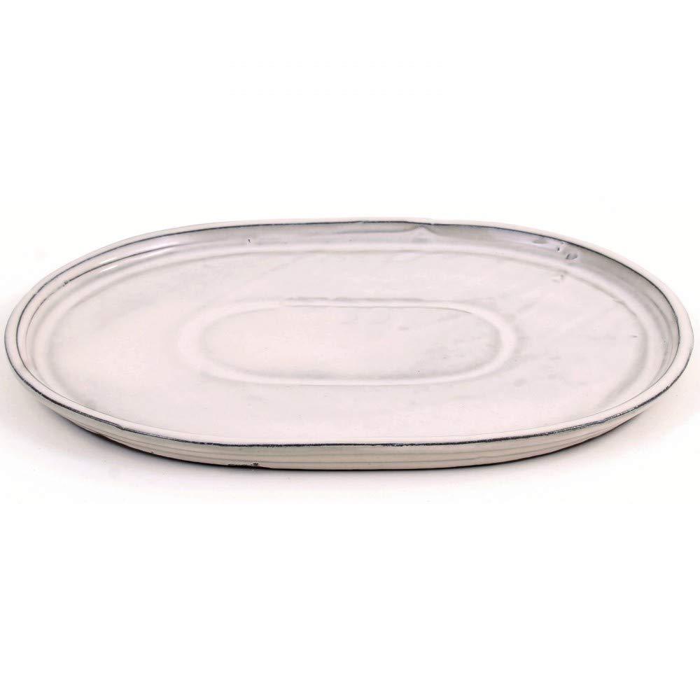 31 x 24 cm Sottovaso Ovale Colore: Crema Bonsai 54312