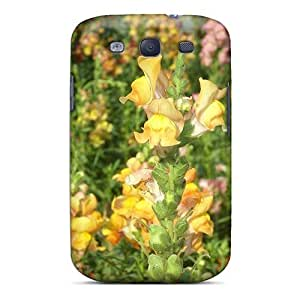 XmrFj272Uebyz NikRun Awesome Case Cover Compatible With Galaxy S3 - Rainbow Of Flowers