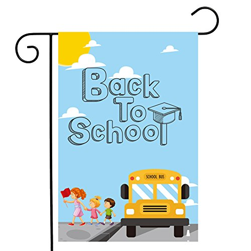 Double Side Back to School Garden Flag 12.518inches Fade Res