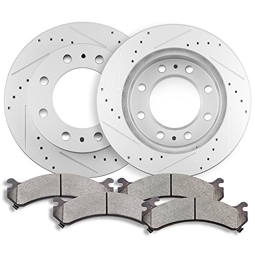 Brake kits,ECCPP Front 2pcs Discs Brake Rotors and 4pcs Ceramic Brake Pads Evolution Brake Kit for Chevy Avalanche 2500/Express 3500/Silverado 2500 HD 3500 3500 HD,GMC Savana 3500/Sierra 2500HD 3500