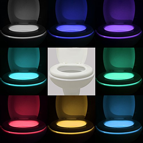 Vintar 16-Color Motion Sensor LED Toilet Night Light, Cool Gadgets,5-Stage Dimmer, Light Detection,Gift Idea