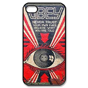 Mural Case For iPhone 4/4s Black Nuktoe735788 by ruishername