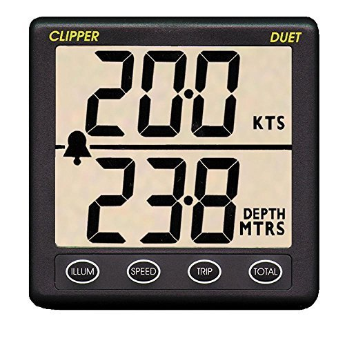 Speed Log (Clipper Duet Instrument Depth Speed Log w/Transducer by Clipper)