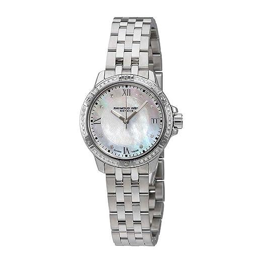 Raymond Weil Tango Madre de Perla Diamante Dial Damas Reloj 5960-sts-00995: Amazon.es: Relojes