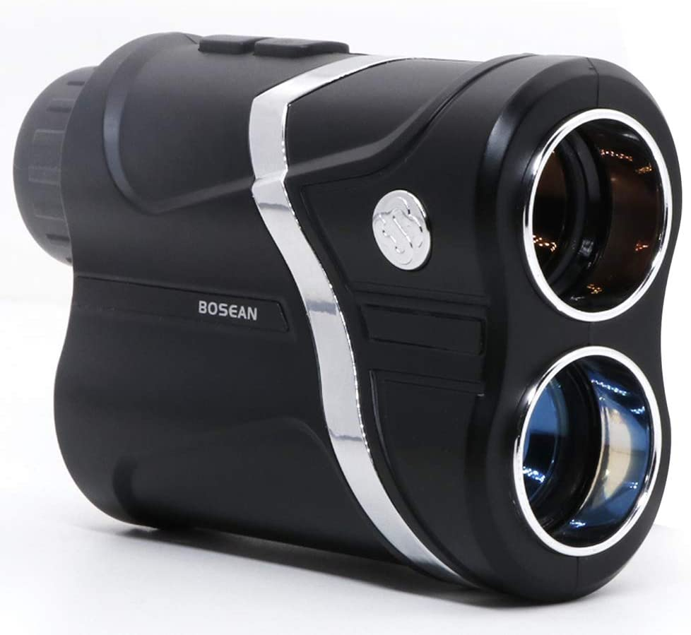 MOESAPU Laser Golf Rangefinder with Slope Acquisition, Pulse Vibration and Fast Focus System, 4 Scan Modes 5-656 Yards 7X Magnification Laser Range Finder USB Charging Laser Binoculars