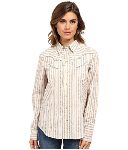 Pendleton - Women's - Vintage-Inspired Floral Striped Pearl Snap Piped Western Shirt (XX-Small)