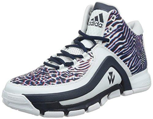 adidas J Wall 2, Zapatillas de Baloncesto para Hombre Blanco / Rojo / Azul Marino (Ftwbla / Escarl / Maruni)