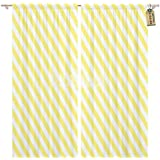 Golee Window Curtain Yellow Stripes on Striped Diagonal Pattern of Christmas Winter Home Decor Rod Pocket Drapes 2 Panels Curtain 104 x 96 inches