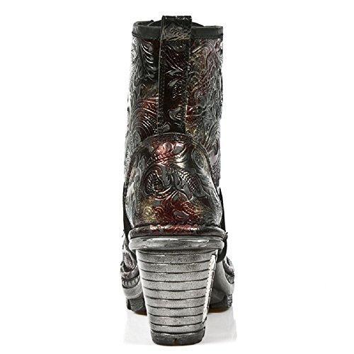 NewRock NEW ROCK NEOTR008-S13 Vintage Flower Red Gothic Rock Punk Ladies Boots eHnuv