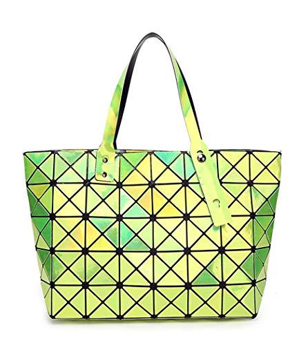 Yojdtd Bandolera Plegable Verde Bolso Mujer De Geométrico Bolso Amarillo Fruta IqrI4wUx