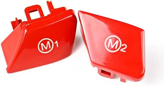 Aawsome Red Sports volante M1 M2 Modelo Bot/ón para BMW Serie 3 E90 E92 E93 M3 2007-2013