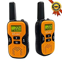 Kids Walkie Talkies Features:1.Long Range-The longer the range the better! Our kid walkie talkies toys can handle large areas of terrain- Up to 3 miles long transmitting range in open field and 0.5-1 mile range in residential area. 2.Priva...