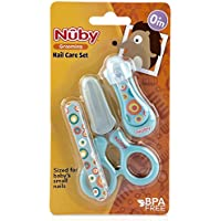 Nuby Nail Care 8 Piece Set, Blue, 8 Count