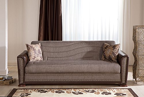 Alfa Redeyef Brown Convertible Sofa Bed by Sunset