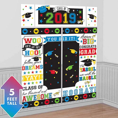HollyDel Rainbow 2019 Graduation Scene Setter 65in x 75in Graduation Wearables & Photo Props