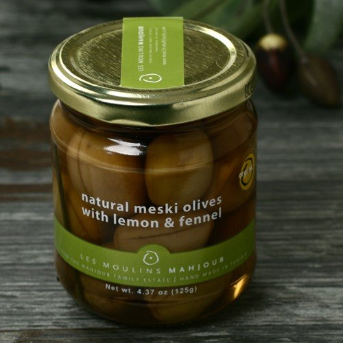 Organic Meski Olives with Lemon and Fennel (4.37 ounce) -