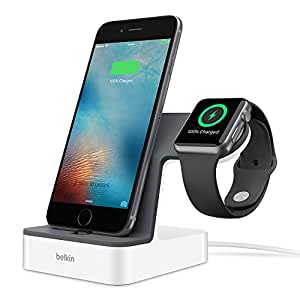 Belkin PowerHouse Charging Station / Dock / Stand for Apple iPhone X, iPhone 8 Plus, iPhone 8, 7, 6, 5 and Series 1, 2, 3 Apple Watch