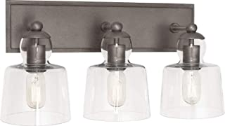 product image for Robert Abbey P744 Albert - Three Light Wall Sconce, Patina Nickel Finish with Clear Glass