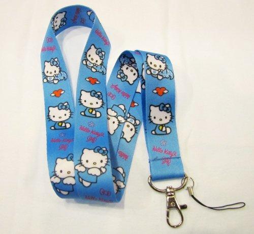Blue Hello Kitty (Blue Hello Kitty Angel Lanyard Key Chain Holder)