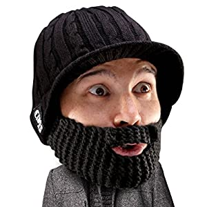 5d0c1d9b990 Beard Head Stubble Rider Beard Beanie – Funny Knit Hat w Fake Beard Facemask