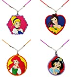 Mainstreet247 Disney Princesses PVC Set of 4 Pendant Necklaces