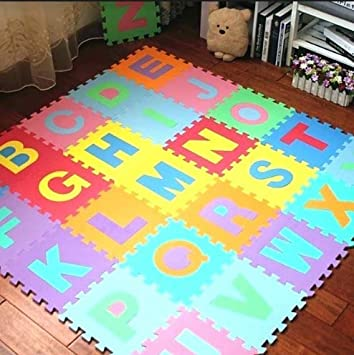 Stager Floor Puzzle EVA Mat 36 Pieces Alphabet Thick Foam Play for Kids