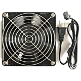 120mm ac cooling fan - Kabel Leader 12038 AC Cooling Fan 115V AC 120mm by 120mm by 38mm Low Speed