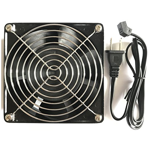 Kabel Leader 12038 AC Cooling Fan 115V AC 120mm by 120mm by 38mm Low Speed