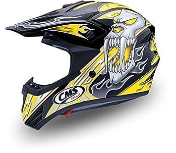 Casco Moto Cross infantil profesional y competición para niños Amarillo Mutante Talla S